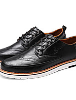 cheap -Men's Shoes PU Spring Fall Comfort Oxfords for Casual White Black Gray
