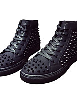 cheap -Men's Shoes PU Spring Fall Comfort Sneakers Rivet for Casual Black