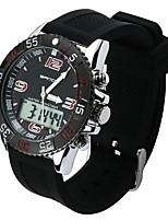 cheap -Men's Sport Watch Japanese Quartz Casual Watch PU Band Casual Black White Green Khaki