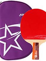 abordables -DHS® R2006 CS Ping Pang/Tennis de table Raquettes Caoutchouc 2 étoiles Manche Court Boutons