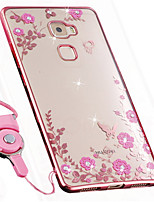 cheap -Case For Huawei Mate 10 Shockproof Rhinestone Back Cover Flower Soft Silicone for Huawei Mate S