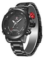 abordables -Hombre Todo Reloj digital Reloj de Vestir Reloj de Moda Japonés Cuarzo Calendario Resistente al Agua Reloj Casual Noctilucente Acero