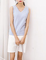 cheap -Women's Basic Tank Top V Neck