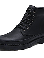 cheap -Men's Shoes Cowhide Fall Winter Combat Boots Comfort Boots Booties/Ankle Boots for Casual Black