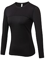 cheap -Women's Running T-Shirt Long Sleeve Breathability T-shirt for Exercise & Fitness Polyester Rose Red / Blue / Red / White M / L / XL