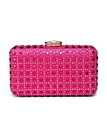 cheap -Women's Bags Silk Evening Bag Crystal Detailing for Wedding Event/Party Spring All Seasons Green Black Fuchsia