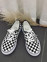 abordables -Homme Chaussures Tissu Printemps Automne Confort Basket pour Décontracté Noir/blanc