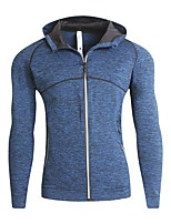 cheap -Men's Simple Long Sleeves Slim Hoodie - Solid Colored Hooded