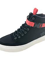 abordables -Homme Chaussures PU de microfibre synthétique Hiver Confort Basket pour Décontracté Blanc Noir