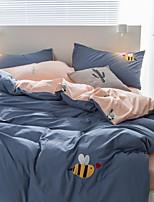 cheap -Duvet Cover Sets Solid 3 Piece Poly/Cotton 100% Cotton Yarn Dyed Poly/Cotton 100% Cotton 1pc Duvet Cover 1pc Sham 1pc Flat Sheet