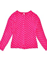 cheap -Girls' Daily Holiday Polka Dot Suit & Blazer, Cotton Polyester Spring Fall Long Sleeves Active Fuchsia