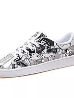 Недорогие -Муж. обувь Полотно Весна Осень Удобная обувь Кеды для Повседневные Черно-белый Белый и фиолетовый Белый/Желтый