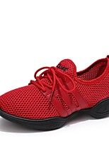"""cheap -Women's Dance Sneakers Breathable Mesh Sneaker Outdoor Low Heel White Black Red 1"""" - 1 3/4"""" Customizable"""