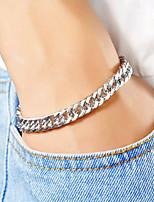 cheap -Men's Women's Steampunk Chain Bracelet - Steampunk Fashion European Silver Bracelet For Daily