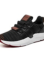 cheap -Men's Shoes Tulle Spring Fall Comfort Sneakers for Casual White Black