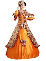 cheap -Princess Fairytale Renaissance 1920s Costume Women's Dress Costume Masquerade Party Costume Outfits Orange Vintage Cosplay Polyster