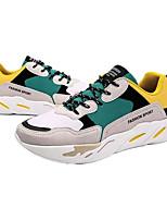 Недорогие -Муж. обувь Полиуретан Весна Осень Удобная обувь Кеды для Повседневные на открытом воздухе Черный Красный Зеленый