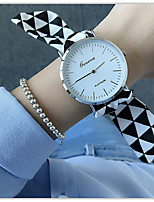 baratos -Mulheres Quartzo Único Criativo relógio Relógio de Moda Chinês Cronógrafo Relógio Casual Tecido Banda Pontos Minimalista Preta Azul