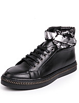 cheap -Men's Shoes Cowhide Spring Fall Comfort Sneakers for Casual Outdoor Black