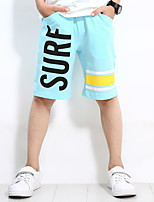 cheap -Boys' Daily Holiday Print Shorts, Cotton Summer Simple Active Blue Orange Light Blue