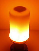 preiswerte -SENCART 1pc 5W 700lm E14 GU10 E26 / E27 B22 LED Mais-Birnen T 96 LED-Perlen SMD 2835 Flamme flackert Warmes Weiß 85-265V