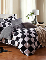 cheap -Duvet Cover Sets Grid/Plaid Patterns 3 Piece Poly/Cotton 100% Cotton Reactive Print Poly/Cotton 100% Cotton 1pc Duvet Cover 1pc Sham 1pc