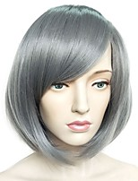 cheap -Synthetic Wig Yaki Straight Layered Haircut Bob Haircut Natural Hairline Gray Women's Capless Celebrity Wig Party Wig Natural Wigs
