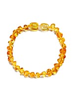 cheap -Men's Women's Amber Amethyst Strand Bracelet - Casual Circle Purple Yellow Bracelet For Daily Going out