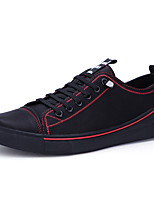 cheap -Men's Shoes Leatherette Leather Spring Summer Comfort Sneakers for Casual Black Black/Red