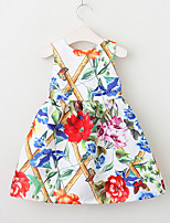 cheap -Girls' Cute Floral Dress