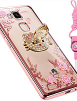 cheap -Case For Huawei Mate 8 Mate 10 Shockproof Rhinestone with Stand Back Cover Flower Soft Silicone for Huawei Mate 7