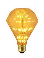 baratos -BRELONG® 1pç 3W 300 lm E26/E27 Lâmpada Redonda LED 47 leds SMD Estrelado Decorativa Amarelo 220-240V