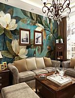 abordables -Fleur Décoration artistique 3D Décoration d'intérieur Contemporain Classique Revêtement, Toile Matériel adhésif requis Mural, Couvre Mur