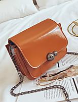 cheap -Women's Bags PU Shoulder Bag Zipper for Casual Black / Red / Brown