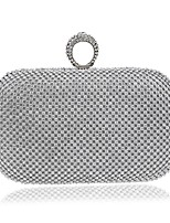cheap -Women's Bags Polyester Evening Bag Buttons Crystal Detailing for Wedding Event/Party All Seasons Gold Black Silver