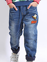 cheap -Boys' Daily Print Jeans, Polyester Spring Long Sleeves Simple Blue Light Blue