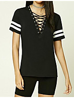 cheap -Women's Rayon T-shirt V Neck