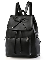 cheap -Women's Bags PU Backpack Zipper for Casual Outdoor All Seasons Black