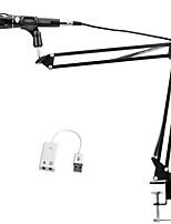 baratos -KEBTYVOR E-300 Com Fio 3.5mm Microfone Microfone Microfone Condensador Microfone Portátil Para Microfone de Computador