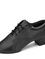 cheap -Men's Modern Shoes Leatherette Heel Training Low Heel Customizable Dance Shoes Black