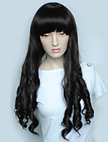 cheap -Synthetic Wig Wavy Layered Haircut Natural Hairline Black Women's Capless Celebrity Wig Party Wig Natural Wigs Long Synthetic Hair Party