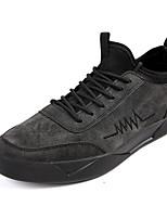 Недорогие -Муж. обувь Дерматин Тюль Зима Осень Удобная обувь Кеды Для прогулок для Атлетический Повседневные Черный Серый Хаки