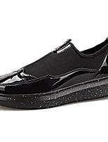 Недорогие -Муж. обувь Искусственное волокно Весна Осень Мокасины Удобная обувь Мокасины и Свитер для Повседневные Золотой Черный Красный