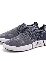abordables -Homme Chaussures Tricot Printemps Eté Confort Basket pour Décontracté De plein air Noir Gris Bleu