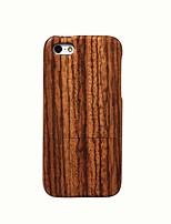 Недорогие -Кейс для Назначение Apple Кейс для iPhone 5 Защита от удара Кейс на заднюю панель Имитация дерева Твердый деревянный для iPhone 5