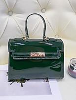 cheap -Women's Bags PU Shoulder Bag Zipper for Casual All Seasons Green Black Red Brown