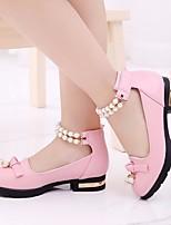abordables -Fille Chaussures Polyuréthane Printemps Automne De minuscules talons pour les ados Confort Chaussures à Talons pour Décontracté Blanc