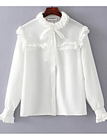 cheap -Women's Polyester Blouse - Solid