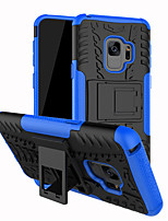 cheap -Case For Samsung Galaxy S9 / S9 Plus / S8 Plus Shockproof / with Stand Back Cover Lines / Waves Hard PC