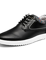 cheap -Men's Shoes PU Spring Fall Comfort Oxfords for Casual Black Orange Blue